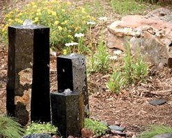 3 Semi-Polished Stone Basalt Columns - Sm