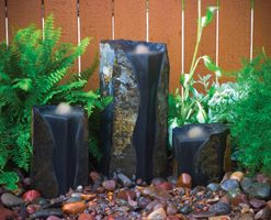 Double Textured Basalt Cored Water Columns