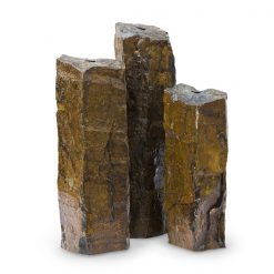 Natural Mongolian Basalt Stone Fountain Columns - Set of 3
