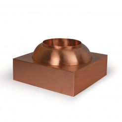 Copper Spillway Bowl Pedestal Base