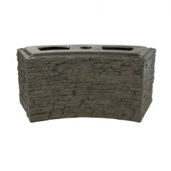 Small Curved Stacked Slate Wall Base